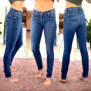 7 for all mankind dark wash skinny jean